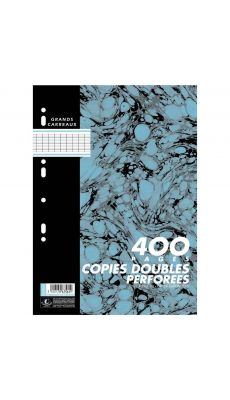 Hamelin - 400085893 - Copie double grand carreaux perforée A4 - Blanc - Sachet de 100