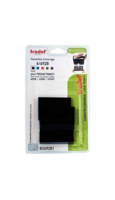 Recharge cassette encreurs 6/4928 noire - Blister de 3