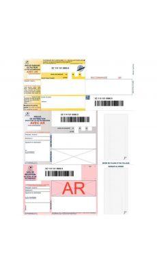 Boîte de 1000 imprimé recommandés avec accusé de réception et code barre