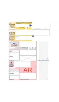 Boîte de 1000 imprimés recommandés avec AR