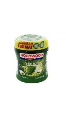 Sphère de chewing-gum menthe chlorophylle.