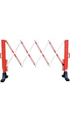 Barrière signalisation extensible rouge et blanche