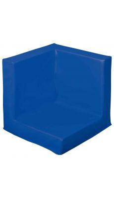 Tapis d'angle 50x50x4 bleu