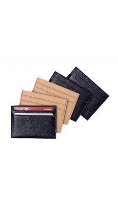 Un protège carte de crédit avec 2 pochettes noir