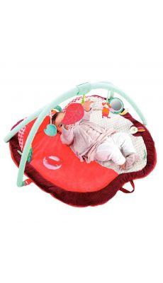 Tapis d'éveil Juliette la chenille avec arche, en forme de pomme