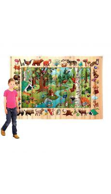 Poster textile 100x140cm la ferme