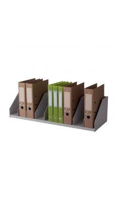 PAPERFLOW - 4945.02 GRIS - Trieur pour armoire, 9 cases fixes, coloris : gris