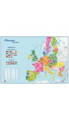 Carte souple : l'Europe & le Monde Politique