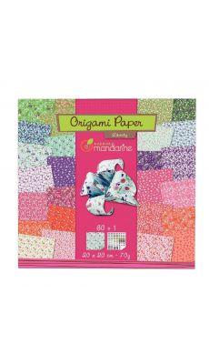 Pochette 60 feuilles Origami papier Liberty 20x20 cm