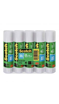 "SCOTCH - Bâtons de colle ""Scotch"" 21G, colle blanche - Lot de 5"