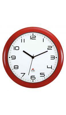 ALBA - HORNEW R - Horloge silencieuse diamètre 30cm rouge