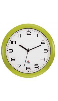 ALBA - HORNEW V - Horloge silencieuse diamètre 30cm vert anis