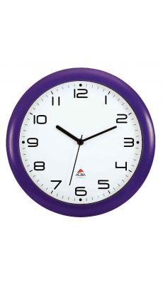 ALBA - HORNEW P - Horloge silencieuse diamètre 30cm prune