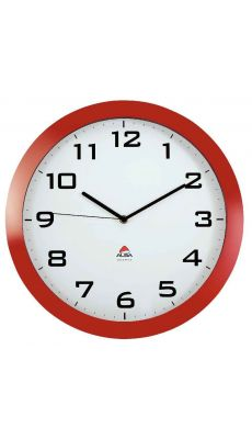 ALBA - HORISSIMO R - Horloge silencieuse diamètre 38cm rouge