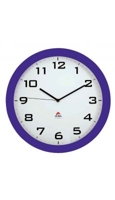 ALBA - HORISSIMO P - Horloge silencieuse diamètre 38cm prune