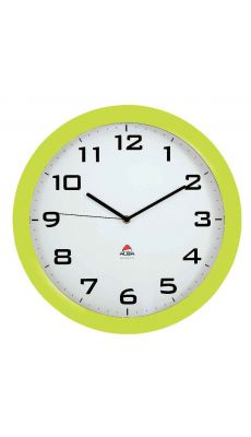 ALBA - HORISSIMO V - Horloge silencieuse diamètre 38cm vert anis