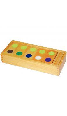 Boîte de 28 dominos en bois tactiles