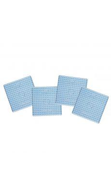 Sachet de 4 plaques préformées pour perles HAMA taille maxi. Format : 15,8 x 15,8 cm