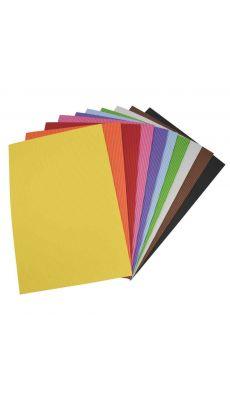 OZ INTERNATIONAL - SC41786 - Feuilles de caoutchouc 21 x 27,5 cm effet ondulé, coloris assortis - Sachet de 10