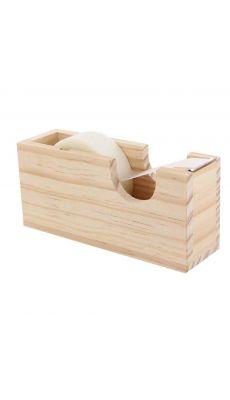 Dévidoirs adhésifs en bois, à décorer - Lot de 5