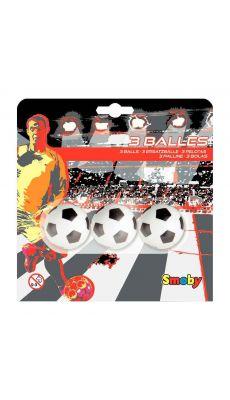 Balles de baby-foot en plastique - Lot de 3