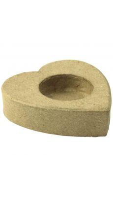Supports bougie en carton, diamètre : 8.5 cm, à décorer - Lot de 10