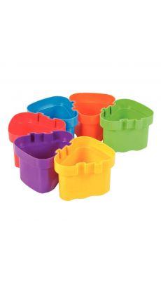 Lot de 6 pots à eau connectables