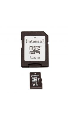 Carte mémoire micro SD UHS-I 16 Go.