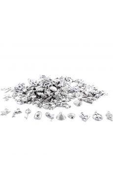 Pampilles argentées assorties - Lot de 200