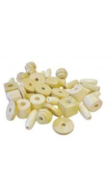 Sachet de 300 perles en bois nature