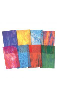 Papier vitrail - Paquet de 24 feuilles