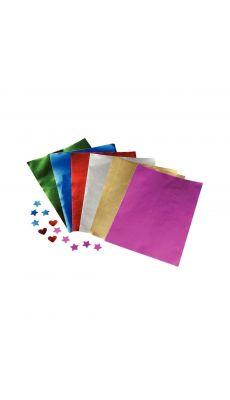 Paquet de 100 feuilles métalisées A4 1 face