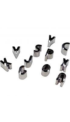 Emporte-pièces métal alphabet - Lot de 26