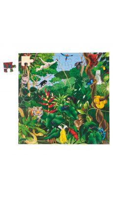 """Puzzle de 81 pièces en bois """"forêt tropicale"""""""