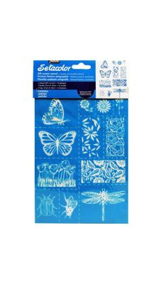 "PEBEO - 329605 - Pochoirs textiles A5 ""Jardin"""