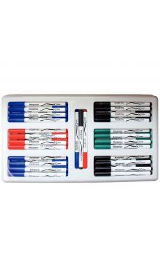CLASSPACK de 72 marqueurs effaçables pour tableau blanc - coloris assortis