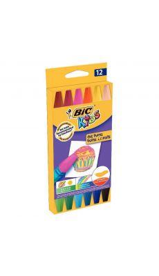 Bic kids - 380349 - Pastel à l'huile hexagonal assorti - Etui de 12