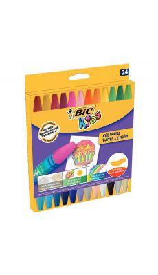 Bic kids - 380356 - Pastel à l'huile hexagonal assorti - Etui de 24