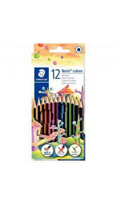 NORIS - 185 C12 - Crayons de couleur Noris colour 185 assortis - Lot de 10 étuis de 12