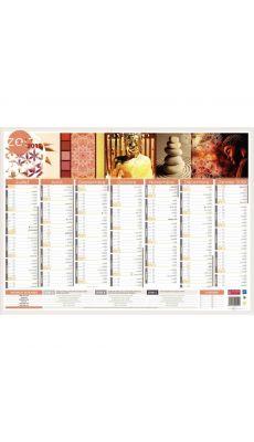 Bouchut grandremy  - 009545 - Calendrier zen 7 mois sur chaque face 40,5x55 cm