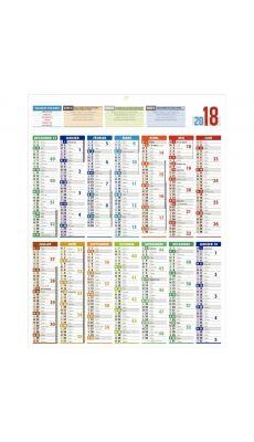 Bouchut grandremy  - 001808 - Calendrier carte de France 14 mois 55x43 cm