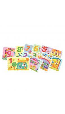 """PLAYMAIS - 160171 -14 cartes PLAYMAIS """"Les Chiffres"""""""