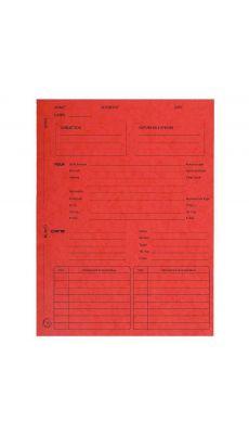 Exacompta - 445105E - Chemise dossier de suivi de procédure 265g - Couleur rouge - Paquet de 25
