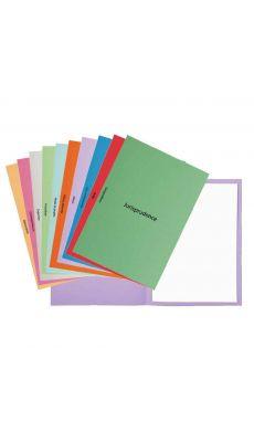 Exacompta - 350018E - Sous-chemise imprimée - Coloris assortis - Paquet de 40