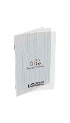 Conquerant classique - 400002790 - Cahier piqûre travaux pratique - 17x22 cm - Incolore - 64 pages (séyès + dessin)