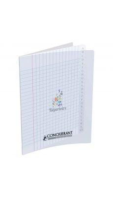 Conquerant classique - 400026557 - Répertoire piqûre grand carreaux - Incolore - 17x22 cm - 96 pages