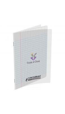Conquerant classique - 400006767 - Cahier piqûre poésie - Incolore - 17x22 cm - 48 Pages(séyès + dessin)
