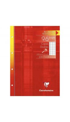 Clairefontaine - 4729C - Copie double A4 grand carreaux perforée  - Etui de 24