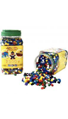 Perles Hama à repasser taille maxi vive assorties - Pot de 2300
