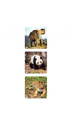 """Puzzles progressifs """"Les animaux sauvages"""" - Lot de 3"""